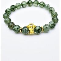 Vòng Tay Đá Thạch Anh Tóc Xanh Green Rutilated Quartz Tự Nhiên Tuổi Thân 11mm