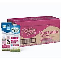 Thùng 12 hộp Sữa tươi tiệt trùng tách béo Meadow Fresh 1L