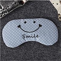 Bịt Mắt Ngủ Miếng Che Mắt Ngủ In Chữ Smile Có Túi Gel
