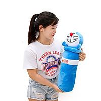 Gối ôm gấu bông Doraemon - Tặng khẩu trang thời trang vải Su màu ngẫu nhiên