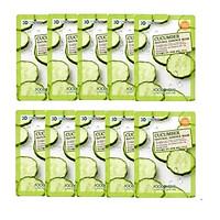 Bộ 10 Loại Mặt Nạ 3D Foodaholic Natural Esence Mask 23ml x10 - Coenzyme Q10