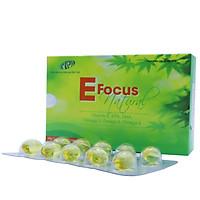 Vitamin E tự nhiên - E Focus Natural - làm chậm lão hóa, nuôi dưỡng da và tóc, điều hòa nội tiết tố - SP chính hãng, đạt tiêu chuẩn GMP - WHO. Hộp 30 viên