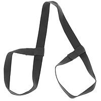 Adjustable Yoga Mat Sling Strap Shoulder Carry Belt Stretch Sport Band Black
