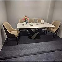 Bộ bàn ăn mặt đá chân chữ X 4 ghế BA-25