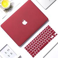 Combo Ốp Macbook, chống va đập, chống xước Màu Đỏ Đô, mỏng nhẹ JRC - Hàng Chính Hãng