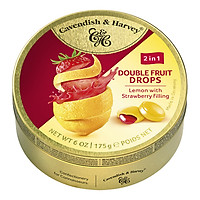 Kẹo trái cây  Đức Cavendish & Harvey vị Chanh vàng nhân Dâu Tây 2in1 175g