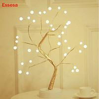 Đèn Để Bàn Essesa /Đèn Ngủ/ Đèn LED USB Trang Trí Hình Nhánh Cây-Hàng Chính Hãng