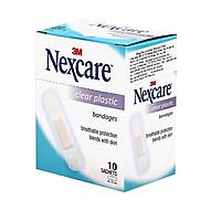 Băng keo cá nhân trong suốt Nexcare Clear Plastic (10 gói/hộp)