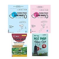 Combo Chinh phục tiếng Nhật từ con số 0 tập 1+2 + Tự Học Tiếng Nhật Dành Cho Người Mới Bắt Đầu va Bài Tập Ngữ Pháp Nhật căn Bản ( tặng kèm bút chì dễ thương )