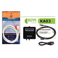 Combo Bộ chuyển quang âm thanh Kiwi KA03 và Dây AV 1 ra 2 (hoa sen) dài 1.8m - Hàng Chính Hãng