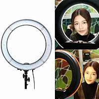 Đèn Led Livetream Studio - Hỗ Trợ Ánh Sáng Chụp Ảnh - Make Up Trang Điểm -Chuyên dụng cho Studio- Spa cực sáng -R300 - 35CM TẶNG KÈM CÁP HAVIT