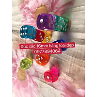 Combo 10 xúc xắc sắc màu 16mm- Dice game hấp dẫn