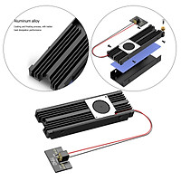 M.2 SSD NVME Fan Heat Sink Aluminum Radiator Cooling with Therma Pad