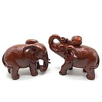 Cặp tượng voi trang trí nội thất