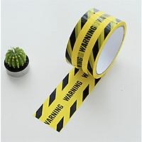 Warning sọc đen - Băng keo tape vàng trang trí 25m