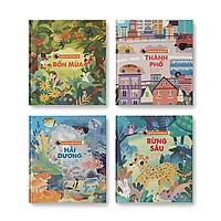 Bộ 4 cuốn Khám phá thế giới nhỏ (Bốn mùa + Rừng sâu + Hải dương + Thành phố)