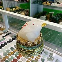 Thiềm thừ bạch đế trên tiền vàng đế thuỷ tinh xoay FLN104