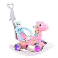 Ngựa bập bênh cho trẻ từ 1 tuổi đến 5 tuổi - có bánh xe và tay đẩy.