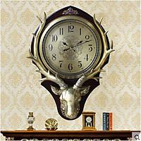 Đồng hồ treo tường trang trí hình đầu hươu DH07