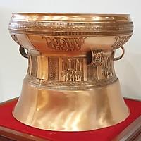 Trống đồng Ngọc Lũ đường kính 25cm hoa văn chìm tinh xảo nhất