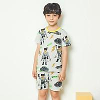 Bộ đồ ngắn tay mặc nhà cotton giấy cho bé trai U3012 - Unifriend Hàn Quốc, Cotton Organic