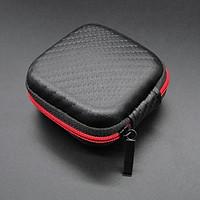 Portable Mini Zipper Square Hard Aseismic Moisture proof Headphone Bag Storage Box Headset Case for SD TF Cards