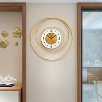Đồng hồ treo tường trang trí 3 vòng tròn đường kính 50cm - Đồng hồ - phù điêu treo tường - đồng hồ treo tường nghệ thuật