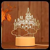 Đèn ngủ led LÂU ĐÀI DREAM CÁTLE sáng tạo - Trang trí 3d đẹp độc lạ - Quà tặng xinh ý nghĩa giá rẻ