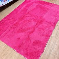 Thảm lông trải sàn 1m6x2m - màu hồng đậm