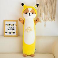 Gấu Bông Gối Ôm Dài Shiba Hóa Trang Pikachu 50cm