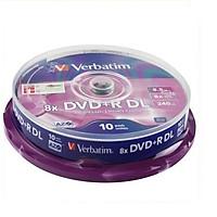Đĩa DVD+R DL 8.5GB Verbatim - Hàng chính hãng (Lốc 10 đĩa)