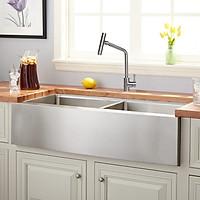 Combo bộ chậu rửa chén RANOX Apron sink và vòi rửa 2 đường nước nóng, lạnh RN44992