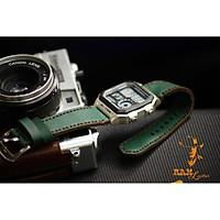 Dây đồng hồ casio ae1200 / seiko 5 - da bò thật xanh rêu - RAM classic 1984 chính hãng RAM leather