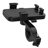 Motorcycle Handlebar Mobile Phone Holder Bracket Phone Holder with Strengthened Fixation Pad Suitable for 4.7-6.5in