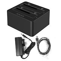 Dock ổ cứng chuẩn SATA USB3.0 hỗ trợ clone 6629US3-C