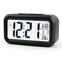 Đồng hồ báo thức để bàn LC01 kỹ thuật số với đèn LED cảm biến tự động sáng Đa Chức Năng: Thời Gian, Lịch, Báo Thức, Nhiệt Độ (Màu Ngẫu Nhiên)