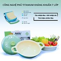 Nồi kháng khuẩn  7 lớp phủ TITANIUM Happy Home Pro chất lượng Hàn Quốc màu xanh lá size 28cm