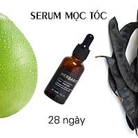 Serum mọc tóc tinh dầu vỏ bưởi & tinh dầu bồ kết herbario 30ml tinh chất kích thích mọc tóc nhanh, ngăn rụng tóc, Trị Rụng Tóc, làm tóc dài nhanh