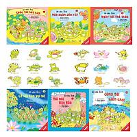 Sách Ehon - Combo 10 chú Ếch phần 2 gồm 6 cuốn từ tập 7 đến tập 12:  Cuộc thi hát hay, Mùa xuân đến rồi, Ngày hội thể thao, Lễ hội sao vui vẻ, Tới núi Rào Rào, Cùng tới biển chơi