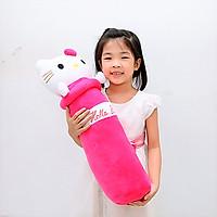 Gối ôm gấu bông hình Kitty - Tặng khẩu trang thời trang vải Su - Gấu Bông Sóc Nhí