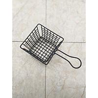 Giỏ để đồ chiên hình vuông phủ sơn đen