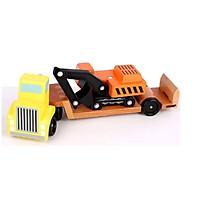 Đồ chơi Mô hình Xe Kéo và Máy Xúc bằng Gỗ - Trailer & Excavator