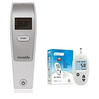 Nhiệt kế hồng ngoại đo trán Microlife FR1MF1 + Tặng máy thử đường huyết sinocare