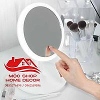 (Hàng sẵn) Gương led, gương trang điểm để bàn 520, Đế nhựa siêu bền