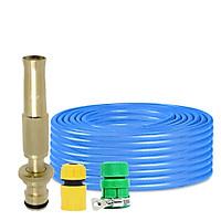 Bộ dây vòi xịt nước rửa xe, tưới cây đa năng, tăng áp 3 lần, loại 3m,5m 206587 cút sập,nối vàng+ tặng mở chai