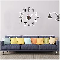 Đồng hồ treo tường kèm decal trang trí hiện đại, mới lạ AmyShop DDH011