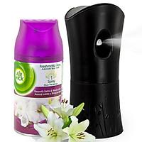 Bộ phun tinh dầu tự động Air Wick Smooth Satin & Moon Lily 250ml QT004879 - hương hoa ly