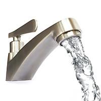 Vòi lavabo lạnh Inox SUS 304 Eurolife EL-122 (Trắng vàng)