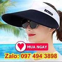 Nón rộng vành mũ che nắng nửa đầu vải dày cực mát hàng đẹp màu sắc thời trang thể thao, du lịch đội chống nắng đẹp
