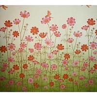 Decal dán kính vườn cúc hồng - có sẵn keo - dán phòng ngủ - phòng khách - phòng bếp - cửa toilet DK51